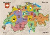 carte canton Suisse