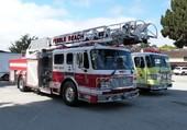 Voitures de pompiers américaines