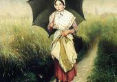 Jeune fille sous la pluie