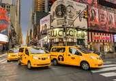 Puzzle taxi jaune de new york
