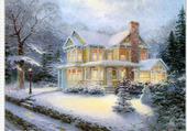 Puzzle Noël maison sous la neige