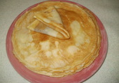 crépe party a la vanille