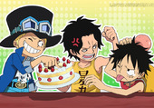Luffy, Sabo et Ace