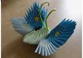 Papillon bleu en origami