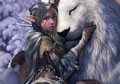 L'Elfe et le Lion Blanc