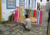 Artiste peintre à l'oeuvre