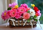 Le panier fleuri