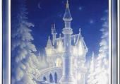 un chateau sous la neige