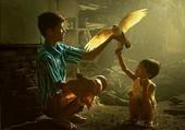 l'oiseau et les enfants