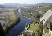 la Dordogne vue du château de Beynac