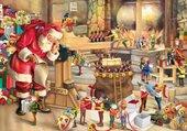 Puzzle atelier du Père Noel