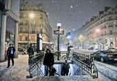 Puzzle Le métro parisien un soir de neige