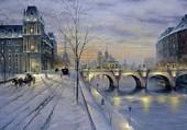 Les quais de la Seine enneigés