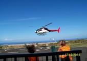 Départ Hélicoptère à la Réunion