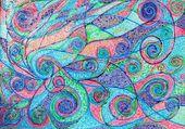 Spirales multicolores