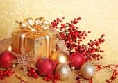 Un Noël rouge et or