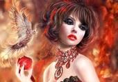 Puzzle beauté fantaisie phoenix