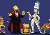 Puzzle Les Simpsons fêtent Halloween