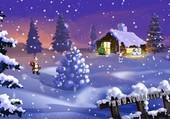 Le père Noël sous la neige