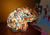 Puzzle Eléphant multicolore