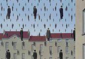 René Magritte, Golconde, 1953.