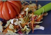 On prépare une salade