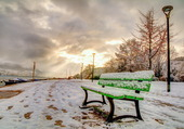 Annecy sous la neige