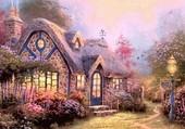 Maison fleurie de Thomas Kinkade