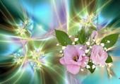 Roses dans un éclat de lumière