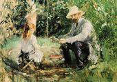 Eugène Manet et sa fille