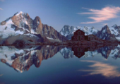 montagne reflet