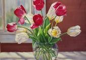 Puzzle Tulipes dans un vase