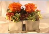 Petite décoration florale.