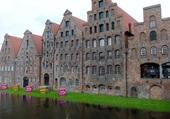 anciennes maisons du sel à Lübeck