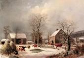 Une ferme en hiver