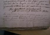 ECRITURE ANCIENNE DE 1754