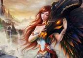la fille et le dragon