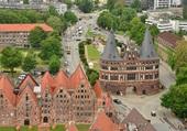 Lübeck vue de haut