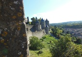 Vue des remparts à Carcassonne