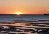 coucher de soleil aux sable d'Olonnes