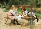 goûter au jardin-GILBERT victor-gabriel