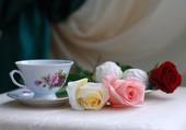Un petit café romantique