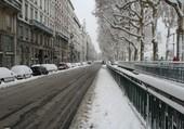 Quai du Rhône sous la neige