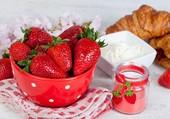 Des fraises à la crème