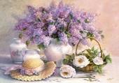Lilas et porcelaines