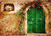 Une porte verte