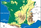 Carte physique de la France
