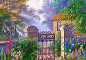 petite maison sous les fleurs