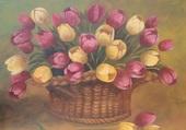 panier de tulipes