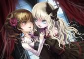 fille blonde vampire